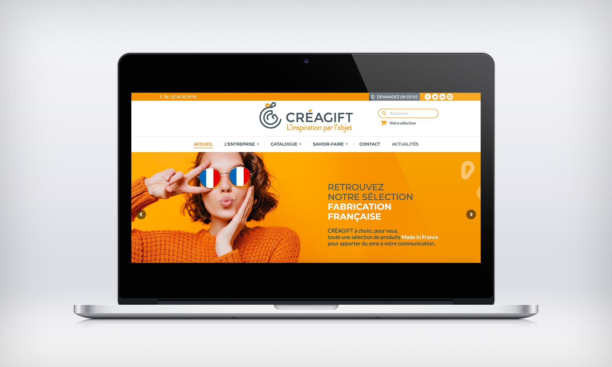 Nouveau Site Web Objet Publicitaire Creagift