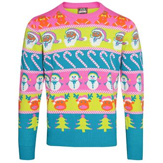 Pull multicolore Journée Du Pull Moche De Noel