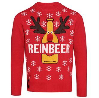 Pull rouge bière Journée Du Pull Moche De Noel
