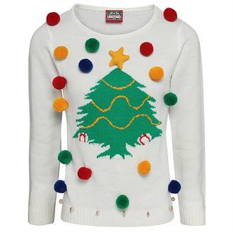 pull boule de noel et sapin Journée Du Pull Moche De Noel