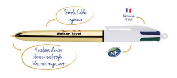 Crayon Bic 4 Couleurs Objets Publicitaires Nantes Creagift