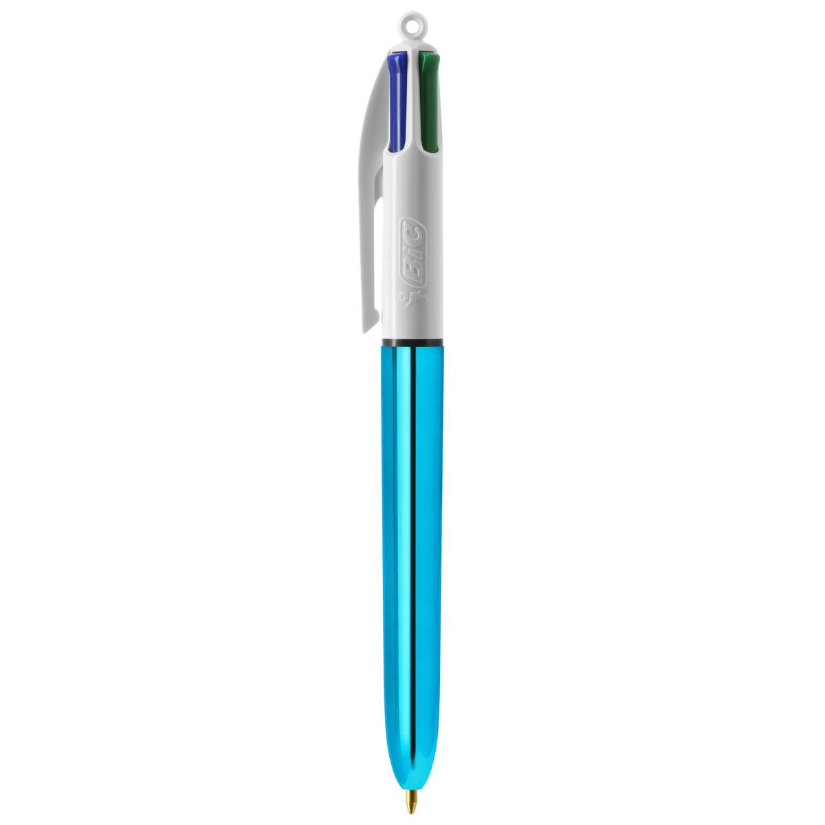 Stylo 4 Couleurs Métal Bleu Objet Publicitaire Nantes Créagift