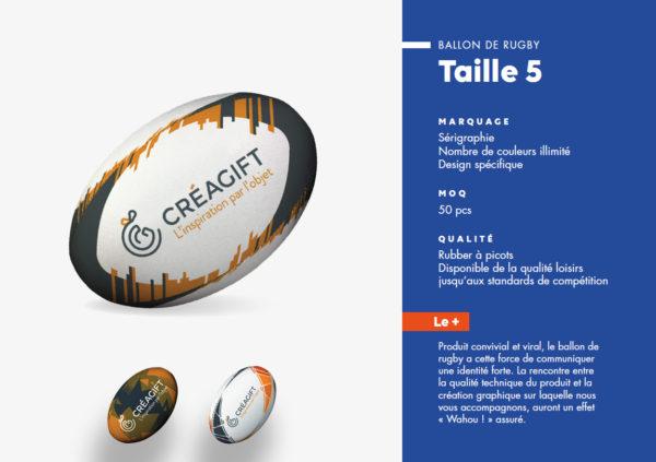 Ballon De Rugby Personnalisé Taille 5 Creagift Nantes