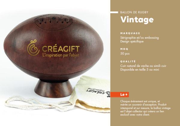 Ballon De Rugby Vintage Personnalisé Créagift Nantes