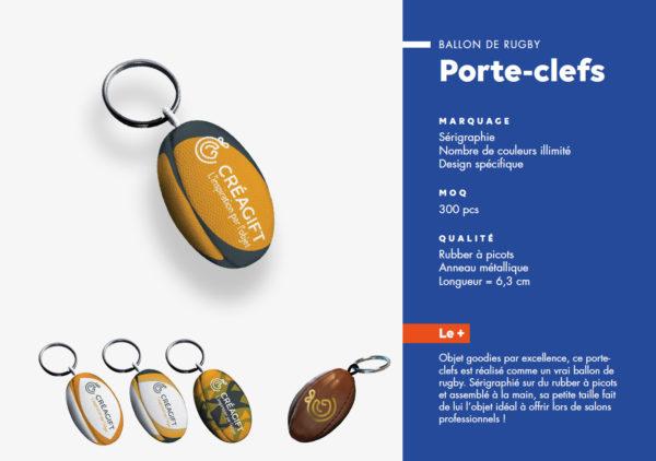 Portes Clés Ballon De Rugby Personnalisé Creagift Nantes