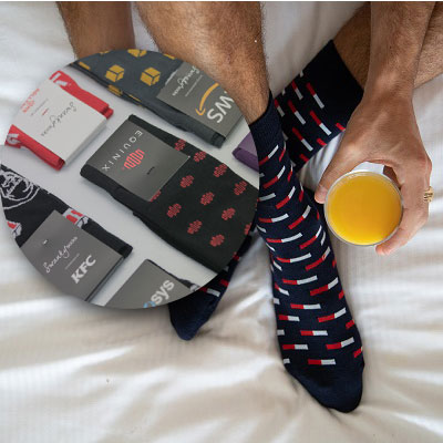 Chaussettes Personnalisées Pour Cadeau D'entreprise
